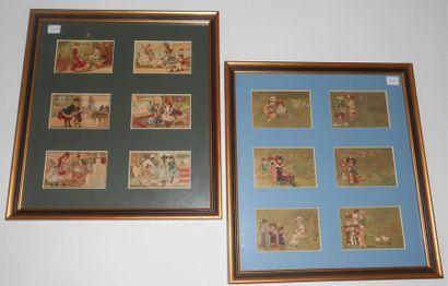 LES ENFANTS : Ensemble de 5 séries de 6 Chromos (V.et H.), 1890 & 1900. Présentées...