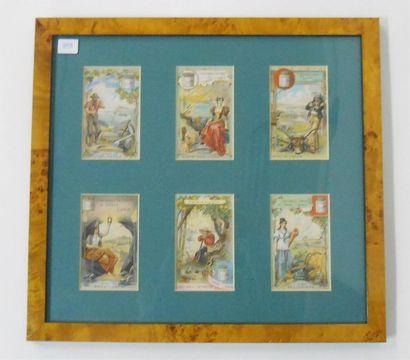 LIEBIG - PAYS & ETATS: Ensemble de 2 séries de 6 Chromos (V.), 1893 & 1895. Présentées...