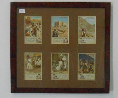 LIEBIG - MEXIQUE, EGYPTE & ALGERIE : Ensemble de 3 séries de 6 Chromos (V.et H.),...