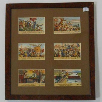 LIEBIG - HISTOIRE DES ETATS-UNIS : Ensemble de 2 séries de 6 Chromos (H.), 1956....