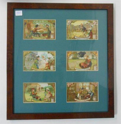 LIEBIG - LES ENFANTS : Ensemble de 3 séries de 6 Chromos (V.et H.), 1898, 1904 &...