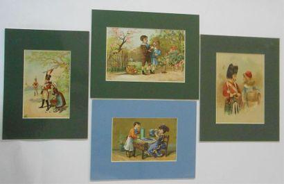 CREMIEUX (Niort) & SANS PUBLICITE : LES ENFANTS. Ensemble de 12 Images & 9 Découpis....
