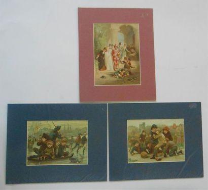 SANS PUBLICITE : LES ENFANTS. Ensemble de 6 Images. (V.et H.). Les Jeux : Jeu de...