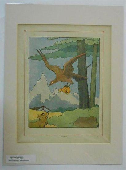 IMAGES : Benjamin RABIER (1866-1936).7 Panches d'images en couleurs. Présentées...