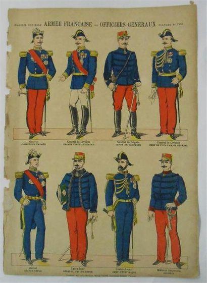 IMAGES : Imagerie Nouvelle- Militaria.. 5 Planches couleurs (états).. N°723-Armée...