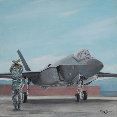 CONRAD Philippe (né en 1949). F35. Acrylique...