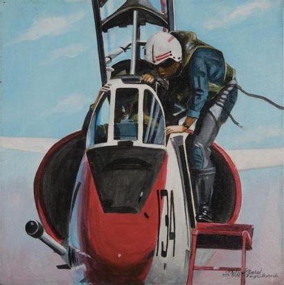 CONRAD Philippe (né en 1949). TOP GUN. Acrylique...