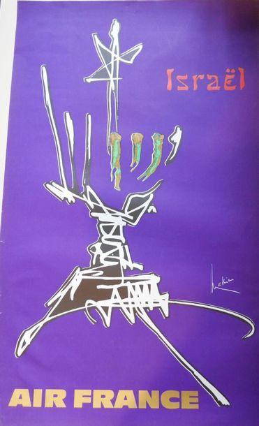 AIR FRANCE Affiche par MATHIEU pour ISRAEL...