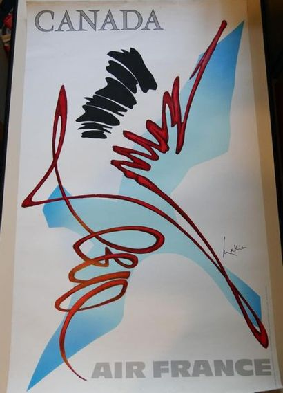 AIR FRANCE Affiche par MATHIEU pour le CANADA...