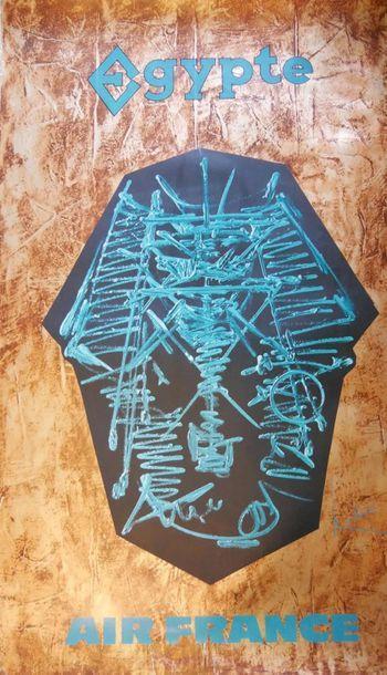 AIR FRANCE Affiche par MATHIEU pour l'EGYPTE...