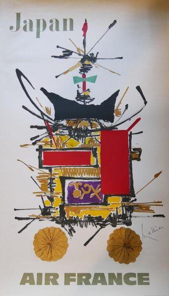 AIR FRANCE Affiche par MATHIEU - JAPAN Imprimeur...