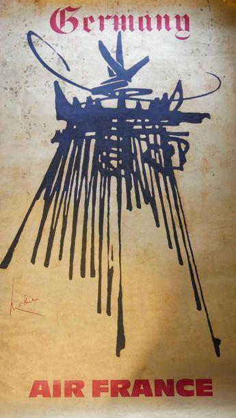 AIR FRANCE Affiche par MATHIEU - GERMANY...