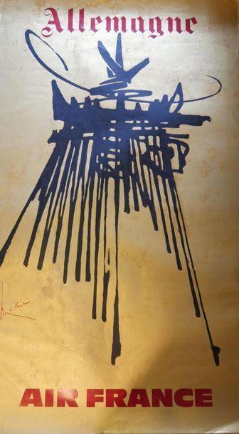 AIR FRANCE Affiche par MATHIEU pour l'ALLEMAGNE...