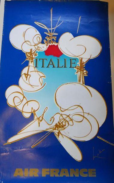 AIR FRANCE Affiche par MATHIEU pour l'ITALIE...