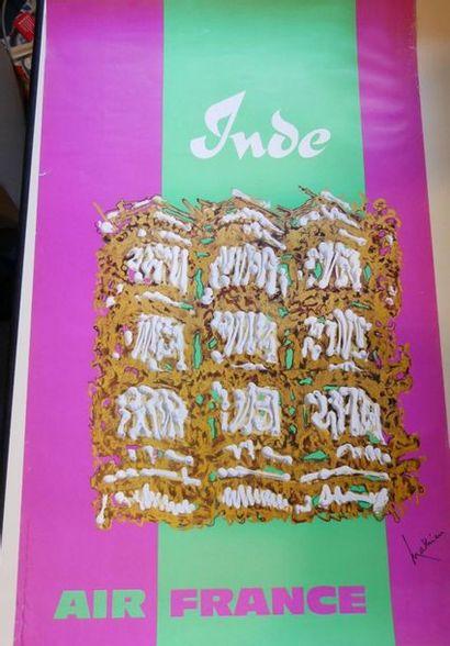 AIR FRANCE Affiche par MATHIEU pour l'INDE...
