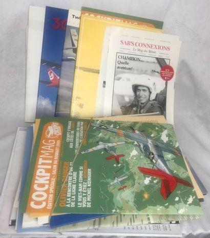 Lot de divers documents aéronautiques dont...