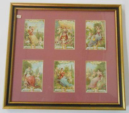 LIEBIG - LES ENFANTS : Ensemble de 2 séries de 6 Chromos (V.), 1897 & 1904. Présentées...