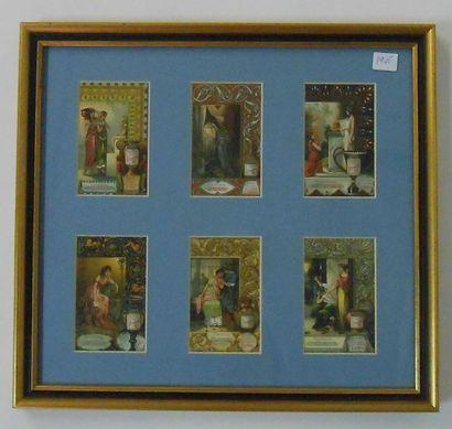 LIEBIG - LES EMOTIONS : Série de 6 Chromos (V.), 1905. Présentée encadrée sous verre...