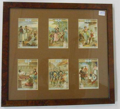 LIEBIG - INSTRUMENTS DE MUSIQUE NATIONAUX : Série de 6 Chromos (V.), 1898. Présentée...