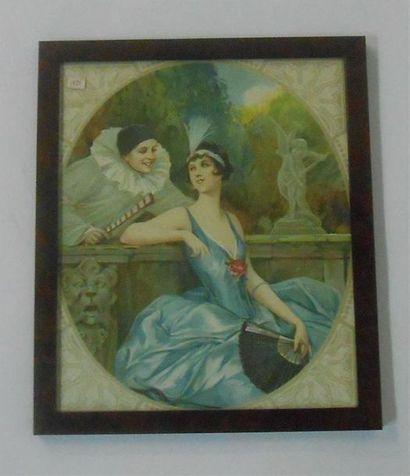 SANS PUBLICITE : PIERROT & COLOMBINE, 1925....