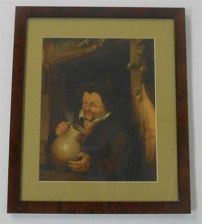 SANS PUBLICITE : PORTRAITS D'HOMME : Ensemble de 2 Images, sans date. (V.). Homme...