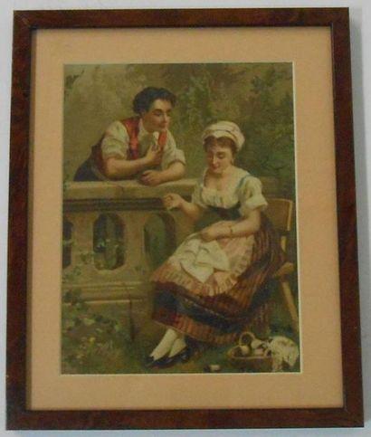 SANS PUBLICITE : COUPLES. Ensemble de 2 Images....