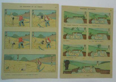 IMAGES : Benjamin RABIER (1866-1936).12 Planches d'Histoires en couleurs. Présentées...