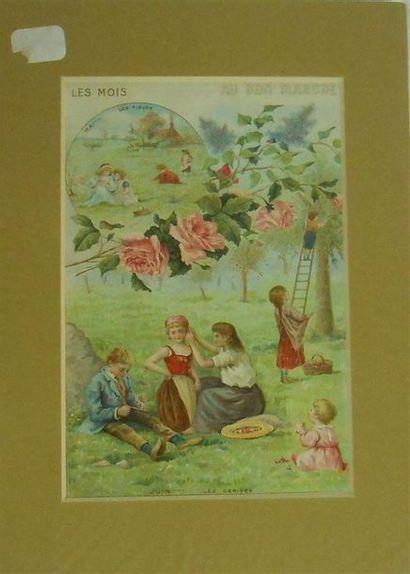 AU BON MARCHE - SCENES ENFANTINES : Ensemble...