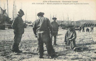 """18 CARTES POSTALES VIE ET TRAVAIL A LA MER : Ille et Vilaine. Dont"""" Cancale : Raccommodage..."""