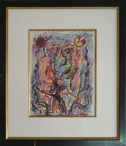 André MASSON (1896-1987) : Couple au coquillage,...