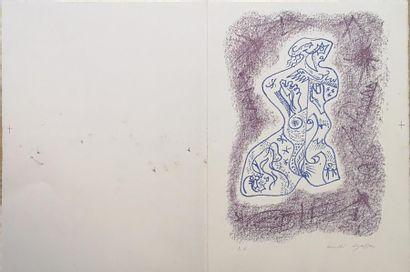 André MASSON (1896-1987) : Buste de femme...