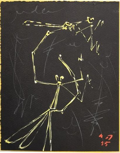 André MASSON (1896-1987) : Phasmes, 1955...