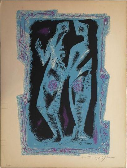 André MASSON (1896-1987) : Couple Lithographie...
