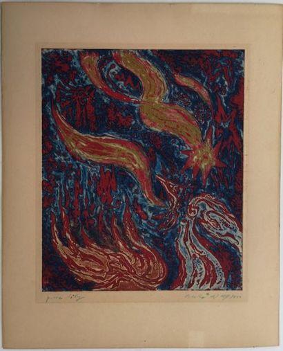 André MASSON (1896-1987) : Etoile filante...
