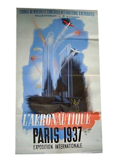 AFFICHE : Paris 1937-Exposition Internationale...