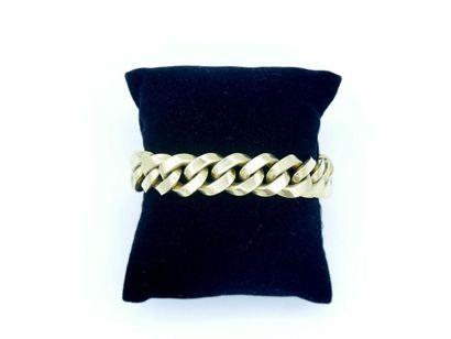 Bracelet articulé à maille en or 750 millièmes...