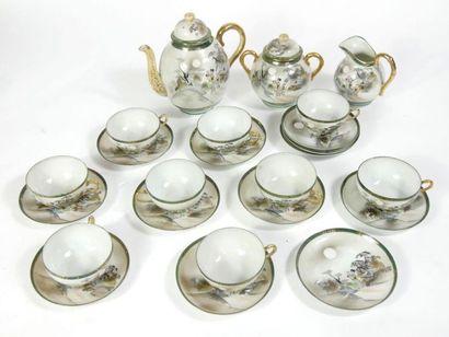 JAPON - XXème  Partie de service à thé en...