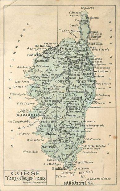 68 CARTES POSTALES CORSE : Villes, qqs villages,...