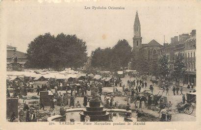 """14 CARTES POSTALES MARCHES : Province - Divers Départements. """"Auch-Le Marché et..."""
