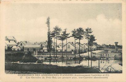 """18 CARTES POSTALES INDUSTRIES : Bois & Divers. """"Maretz-Briqueterie-Route du Bois,..."""