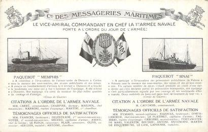 49 CARTES POSTALES COMPAGNIE DE NAVIGATION...