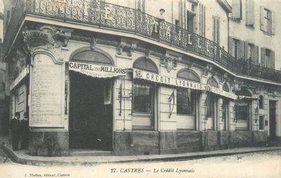 """37 CARTES POSTALES COMMERCES & SOCIETES : Divers Types. Dont"""" Castres-Le Crédit..."""