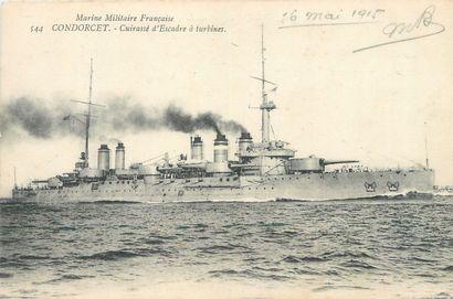 30 CARTES POSTALES BATEAUX : 18cp-Militaires, 12cp-Civils et 2 Carnets-Normandie...