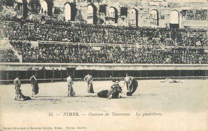 24 CARTES POSTALES TAUROMACHIE : 2cp-Nîmes...