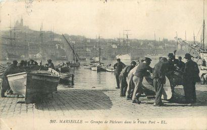 """88 CARTES POSTALES MARSEILLE : Divers Arrondissements. Dont"""" Le Quai d'Embarquement..."""