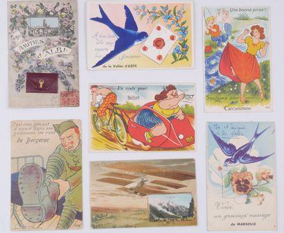 29 CARTES POSTALES LES VILLES : Souvenir...