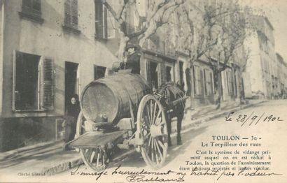 4 CARTES POSTALES METIER : Sélection Toulon....