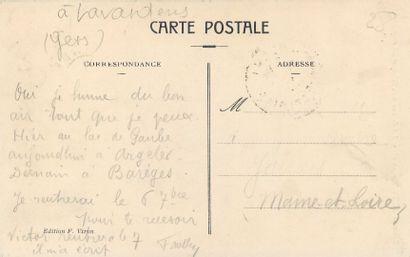 """8 CARTES POSTALES METIERS & PERSONNAGES : Sélection Hommes. """" Raymond Arène, né..."""