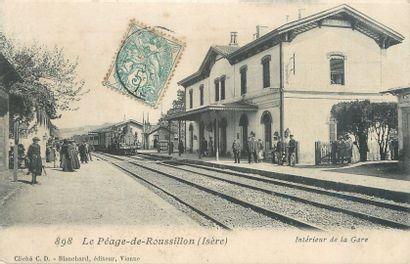 """52 CARTES POSTALES CHEMIN DE FER : Province (majorité) et Région Parisienne. Dont""""..."""