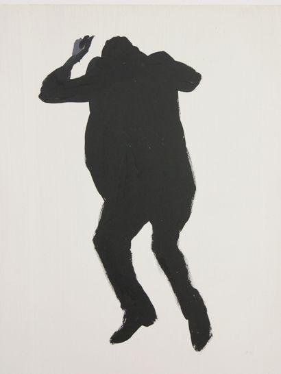Angus FAIRHURST (1966-2008)  Man abandoned by space, (1992).  Acrylique sur panneau...